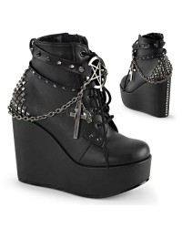 Pentagram Charm The Craft Gothic Ankle Boot