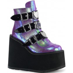 Purple Iridescent Platform Wedge Ankle Boots Mild to Wild Womens Shoes  Shoes for Women from Flats to Extreme High Heels & Platforms