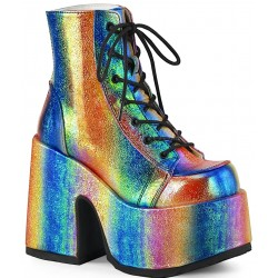 Rainbow Iridescent Chunky Platform Boots Mild to Wild Womens Shoes  Shoes for Women from Flats to Extreme High Heels & Platforms