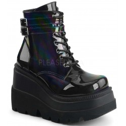 Shaker 52 Lace Up Front Stacked Wedge Ankle Boot Mild to Wild Womens Shoes  Shoes for Women from Flats to Extreme High Heels & Platforms