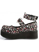 Sprite Floral Print Heart Ring Platform Mary Jane at Mild to Wild Womens Shoes,  Shoes for Women from Flats to Extreme High Heels & Platforms