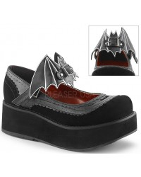 Bat Sprite Black Platform Mary Jane Shoe
