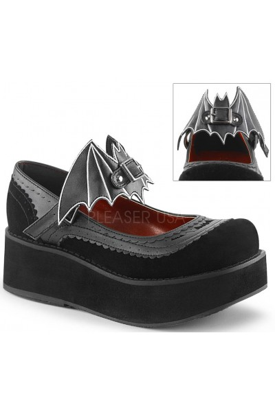 Bat Sprite Black Platform Mary Jane Shoe at Mild to Wild Womens Shoes,  Shoes for Women from Flats to Extreme High Heels & Platforms