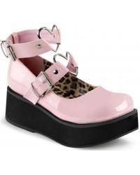 Sprite Heart Ring Baby Pink Platform Mary Jane