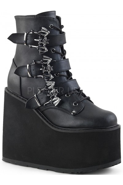 Bat Buckled Swing 103 Wedge Platform Ankle Boot at Mild to Wild Womens Shoes,  Shoes for Women from Flats to Extreme High Heels & Platforms