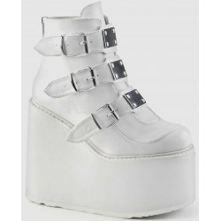 White Swing 105 Platform Wedge Ankle Boot Mild to Wild Womens Shoes  Shoes for Women from Flats to Extreme High Heels & Platforms