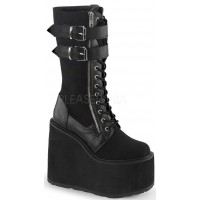 Swing 221 Canvas and Faux Leather Knee Boot