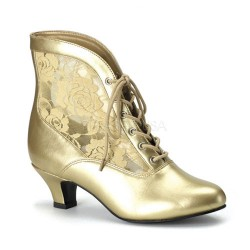 Victorian Dame Gold Ankle Boot Mild to Wild Womens Shoes  Shoes for Women from Flats to Extreme High Heels & Platforms