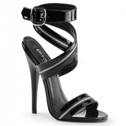 Zippered Domina High Heel Sandal Mild to Wild Womens Shoes  Shoes for Women from Flats to Extreme High Heels & Platforms
