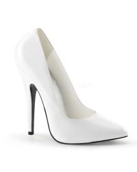 Classic White 6 Inch High Heel Pump