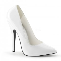 Classic White 6 Inch High Heel Pump Mild to Wild Womens Shoes  Shoes for Women from Flats to Extreme High Heels & Platforms