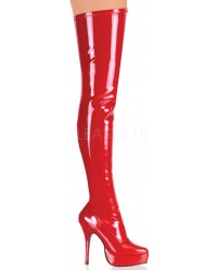 Red Indulge 3000 Thigh High Platform Boot
