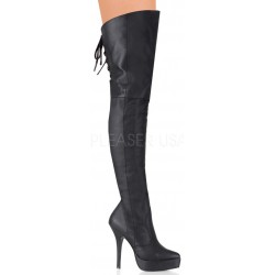 Indulge Leather Thigh High Platform Boot Mild to Wild Womens Shoes  Shoes for Women from Flats to Extreme High Heels & Platforms
