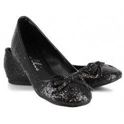 Black Glitter Mila Ballet Flats Mild to Wild Womens Shoes  Shoes for Women from Flats to Extreme High Heels & Platforms