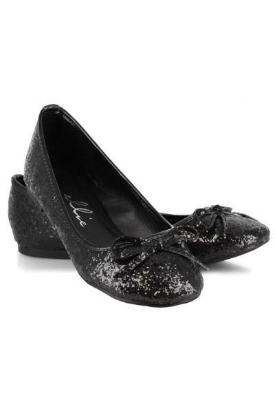 Black Glitter Mila Ballet Flats at Mild to Wild Womens Shoes,  Shoes for Women from Flats to Extreme High Heels & Platforms