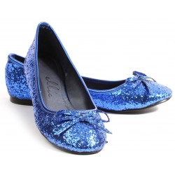Blue Glitter Mila Ballet Flats Mild to Wild Womens Shoes  Shoes for Women from Flats to Extreme High Heels & Platforms
