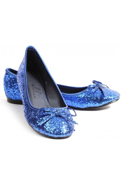Blue Glitter Mila Ballet Flats at Mild to Wild Womens Shoes,  Shoes for Women from Flats to Extreme High Heels & Platforms