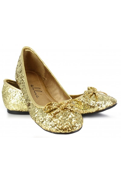 Gold Glitter Mila Ballet Flats at Mild to Wild Womens Shoes,  Shoes for Women from Flats to Extreme High Heels & Platforms