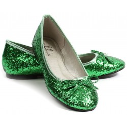 Green Glitter Mila Ballet Flats Mild to Wild Womens Shoes  Shoes for Women from Flats to Extreme High Heels & Platforms