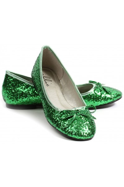 Green Glitter Mila Ballet Flats at Mild to Wild Womens Shoes,  Shoes for Women from Flats to Extreme High Heels & Platforms