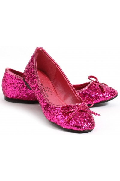 Fuchsia Glitter Mila Ballet Flats at Mild to Wild Womens Shoes,  Shoes for Women from Flats to Extreme High Heels & Platforms