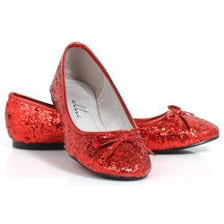 Red Glitter Mila Ballet Flats Mild to Wild Womens Shoes  Shoes for Women from Flats to Extreme High Heels & Platforms