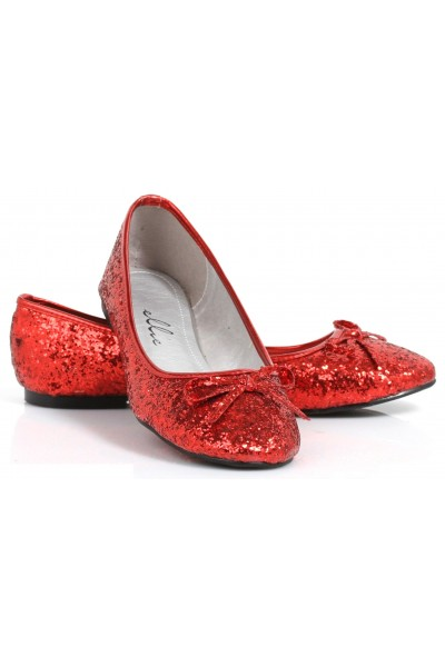 Red Glitter Mila Ballet Flats at Mild to Wild Womens Shoes,  Shoes for Women from Flats to Extreme High Heels & Platforms