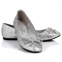 Silver Glitter Mila Ballet Flats Mild to Wild Womens Shoes  Shoes for Women from Flats to Extreme High Heels & Platforms