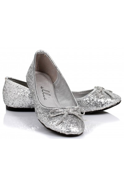 Silver Glitter Mila Ballet Flats at Mild to Wild Womens Shoes,  Shoes for Women from Flats to Extreme High Heels & Platforms