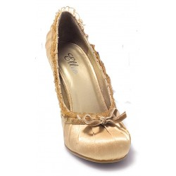 Satin Doll Gold High Heel Pump Mild to Wild Womens Shoes  Shoes for Women from Flats to Extreme High Heels & Platforms