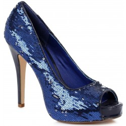 Royal Blue Flamingo Sequin Peep Toe Pumps Mild to Wild Womens Shoes  Shoes for Women from Flats to Extreme High Heels & Platforms