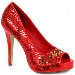 Red Flamingo Sequin Peep Toe Pumps Mild to Wild Womens Shoes  Shoes for Women from Flats to Extreme High Heels & Platforms