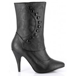 Ruth Black Ankle Boots with Button Detail Mild to Wild Womens Shoes  Shoes for Women from Flats to Extreme High Heels & Platforms