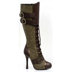 Quinley Steampunk Olive Green Boots Mild to Wild Womens Shoes  Shoes for Women from Flats to Extreme High Heels & Platforms