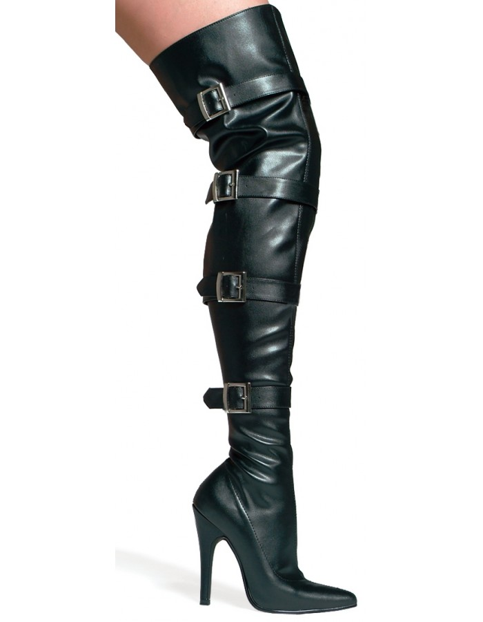 Buckle Up Black Faux Leather Over the