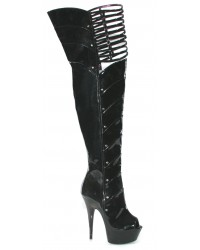 Katrina Peep Toe Thigh High Platform Boots