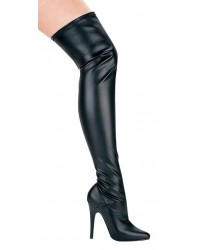 Ally Black Thigh High 5 Inch Heel Boot