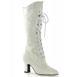 Rebecca Victorian White Lace Boot Mild to Wild Womens Shoes  Shoes for Women from Flats to Extreme High Heels & Platforms
