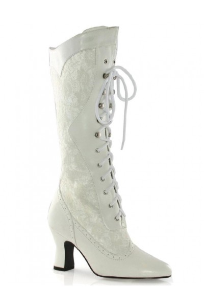 Rebecca Victorian White Lace Boot at Mild to Wild Womens Shoes,  Shoes for Women from Flats to Extreme High Heels & Platforms