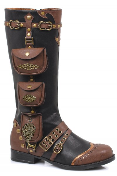 Silas Multi Pocket Steampunk Womens Boot at Mild to Wild Shoes,  Shoes for Women from Flats to Extreme High Heels & Platforms