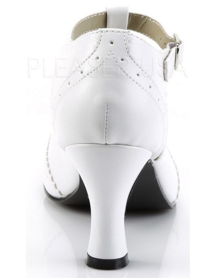 White Flapper Womens Shoes