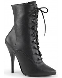 Seduce 1020 5 Inch Heel Black Ankle Boot