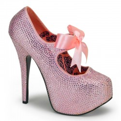 Baby Pink Rhinestone Teeze Platform Pump Mild to Wild Shoes  Shoes for Women from Flats to Extreme High Heels & Platforms