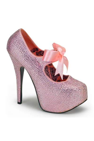 Baby Pink Rhinestone Teeze Platform Pump at Mild to Wild Womens Shoes,  Shoes for Women from Flats to Extreme High Heels & Platforms