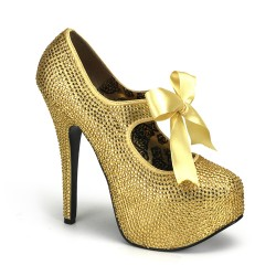 Gold Rhinestone Teeze Platform Pump Mild to Wild Womens Shoes  Shoes for Women from Flats to Extreme High Heels & Platforms