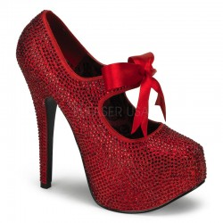 Ruby Red Rhinestone Teeze Platform Pump Mild to Wild Womens Shoes  Shoes for Women from Flats to Extreme High Heels & Platforms