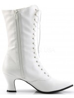 White Victorian Steampunk Ankle Boots at Mild to Wild Womens Shoes,  Shoes for Women from Flats to Extreme High Heels & Platforms