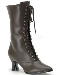 Brown Victorian Ankle Boot