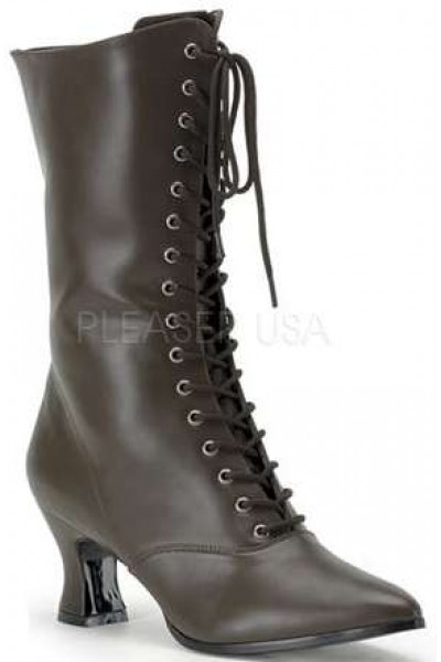 Brown Victorian Ankle Boot at Mild to Wild Womens Shoes,  Shoes for Women from Flats to Extreme High Heels & Platforms