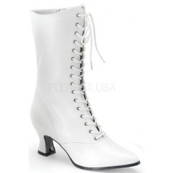 White Victorian Steampunk Ankle Boots Mild to Wild Womens Shoes  Shoes for Women from Flats to Extreme High Heels & Platforms